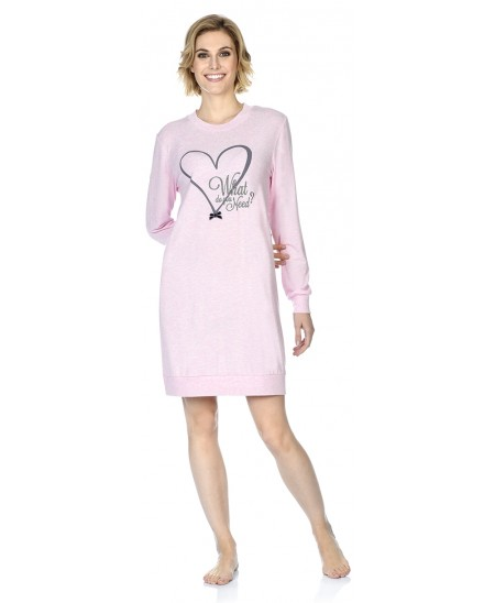 Heart embroidery nightdress
