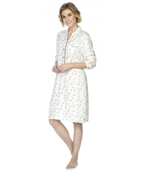 Plume print nightdress