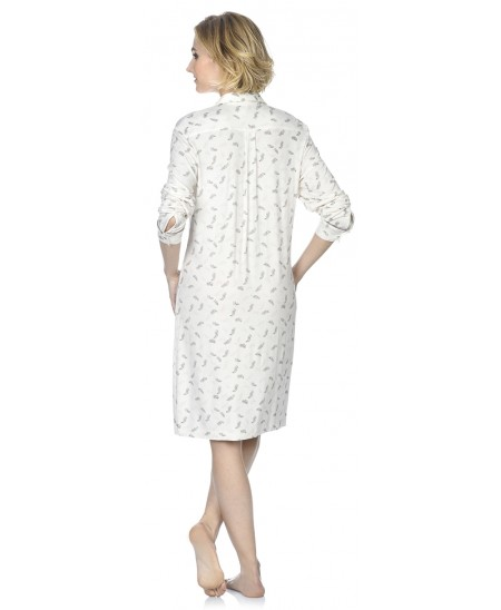 Plume print nightdress