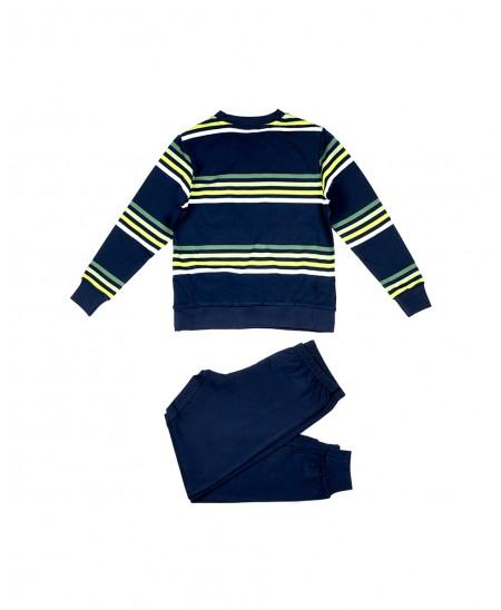 Stripes print pyjama set