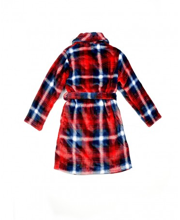 Checks print dressing gown