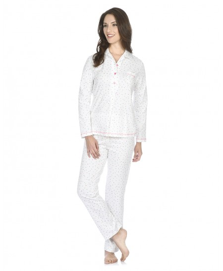 Multicolor dots print pyjama set