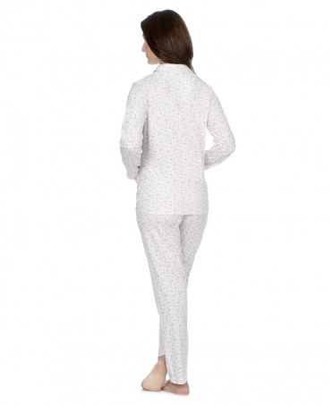Pijama largo de mujer Lohe abierto estampado florecitas
