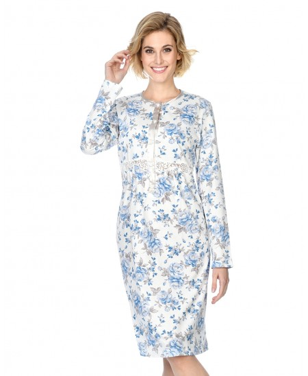 Flowers print with lace nightdress