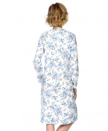 Camisón largo de mujer Lohe estampado flores puntilla
