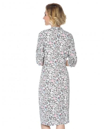 Camisón largo de mujer Lohe estampado flores vivo