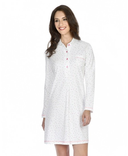 Multicolor dots print nightdress