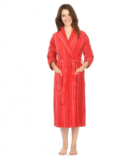 Red stripes bathrobe