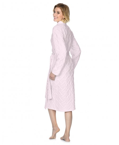 Classic dressing gown with piping adornment